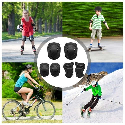 Kids Knee Pads Set 6 in 1 Protective Gear Kit