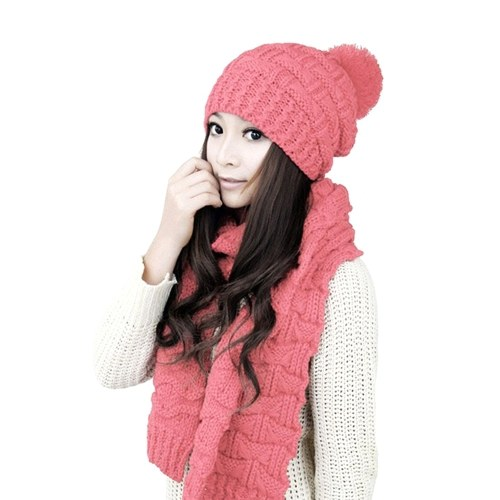 Sweater Scarf and Hat Set