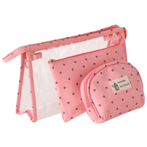 3 PCS Cosmetic Makeup Bags
