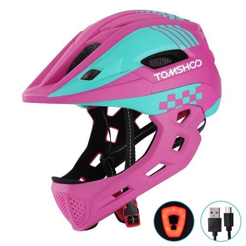 TOMSHOOH Kid Bike Full Face Helmet Image