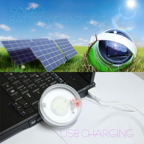 Solar / USB-powered LED-Camping-Laterne-Licht-Lampe zusammenklappbare faltbare wasserdichte Silikon-Rafting-Flasche für Outdoor-Camping-Bootfahren Wandern Angeln Notfall