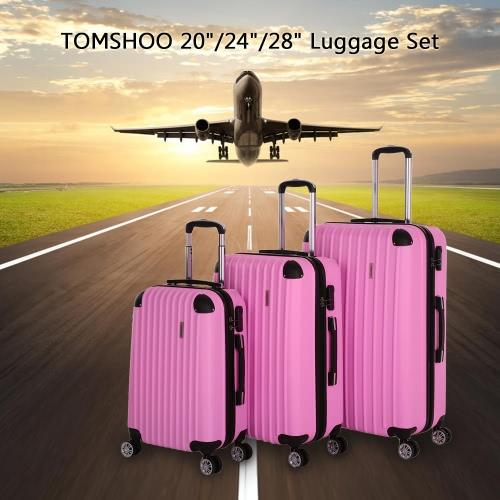 TOMSHOO моды 3шт Набор для багажа ручной клади Чемодан ABS Hard Shell Trolley 20