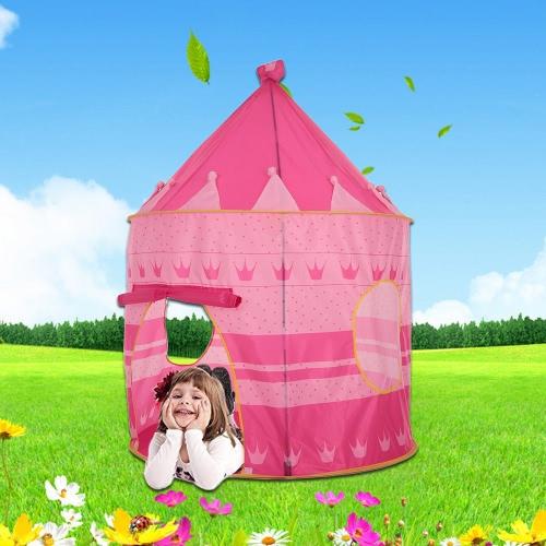 Docooler Prince princesa Castle Kids Play Tent interior niños al aire libre plegable con bolsa de transporte Playhouse