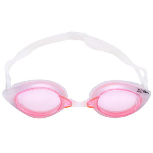Women's Men's Glare-reducing Mirrored Coating Swim Goggles Anti-fog UV-protection Swimwear Swimming Goggles Sports Eyewear Glasses with Storage Case Adult