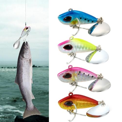4cm / 25g Lifelike Fishing Lure Swimbait VIB Hard Bait Fish Treble Hook Tackle thumbnail