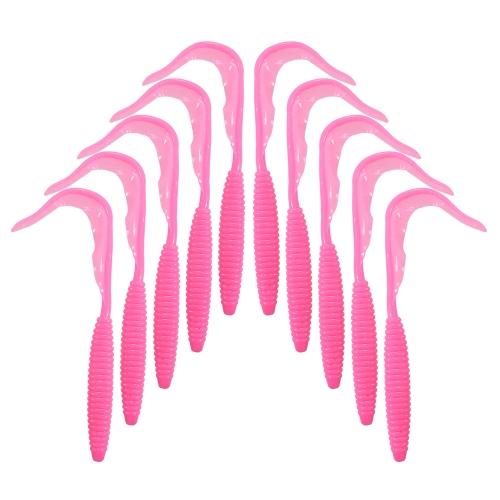 Lixada 10 PZ 12 cm / 2.4g Forma a Spirale Corpo Coda Lunga Soft Fishing Lure Soft Bait Worm Colore misto Richiamo di pesca Set