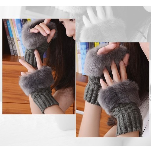 女性の冬エレガントなミトン手袋