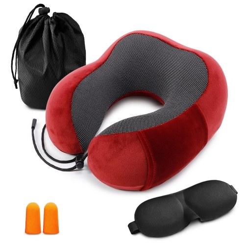 Almohada de viaje Almohada de cuello con espuma de memoria
