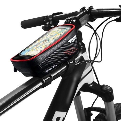 Bolsas para teléfono de bicicleta con pantalla táctil Funda para teléfono Funda impermeable para bicicleta Marco delantero Montaje en tubo superior Bolsas de manillar Bolsa de almacenamiento de bicicleta Paquete de ciclismo