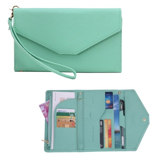 Multi Card Organizer Wallet RFID Blocking Travel Passport Holder
