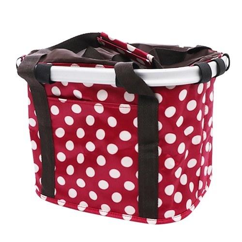 Bike Basket Collapsible Bicycle Handlebar Basket Quick-release Cycling Pet Dog Cat Carrier Bag Image