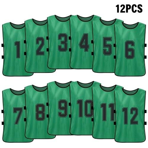 Basketball Team Training Numbered Bibs Practice Sports Vest