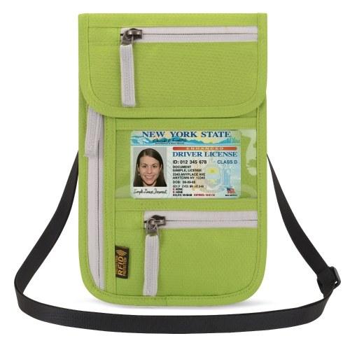 Airport Travel Neck Pouch Neck Wallet Stash Passport Holder Document Organizer
