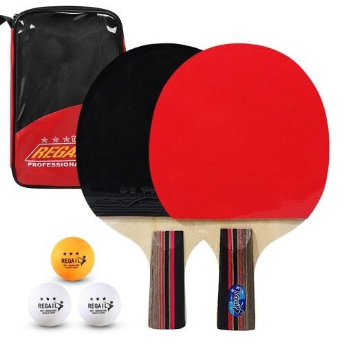 Ping Pong Paddles Качественные ракетки для настольного тенниса 2 ракетки для пинг-понга с длинной короткой ручкой для пинг-понга фото