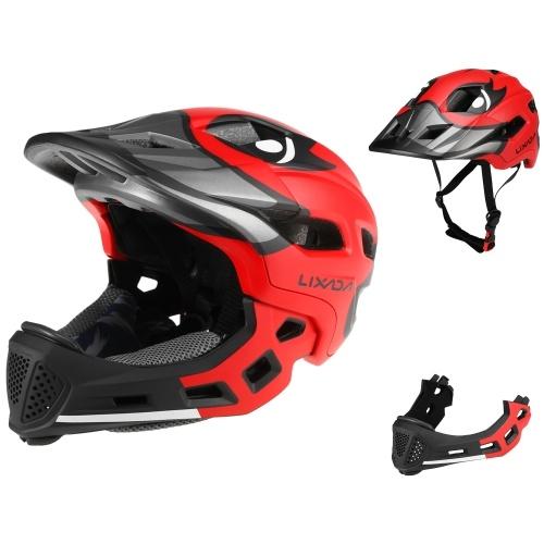 Lixada Kids Detachable Full Face Helmet Children Sports Safety Helmet for Cycling Skateboarding Roller Skating Image