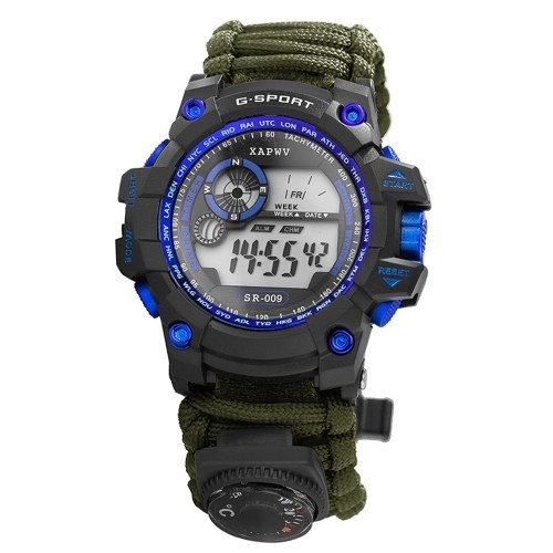 Digital Survival Sport Watch Wasserabweisende Uhr