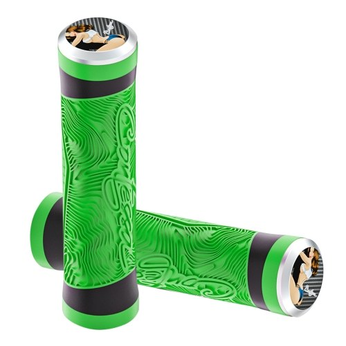 Shockproof Bike Handlebar Grips 22.2mm Bicycle Grips Non-Slip Soft Silicone Handlebar Cover End for Mountain Bikes Road Bicycles