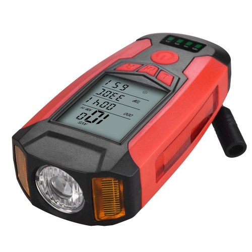 Bicycle Lamp USB Front Bike Light Rechargeable Bicycle Headlight with Bicycle  Speedometer Image