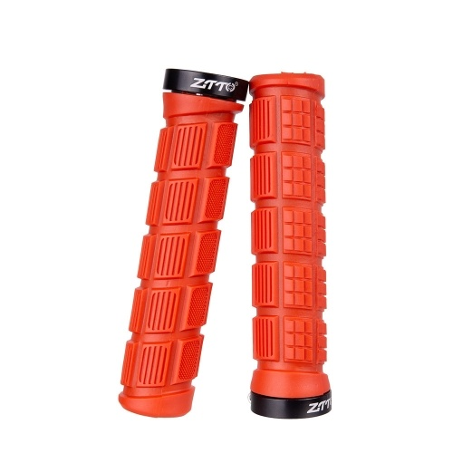 AG38 Bicycle Handle Cover Mountain Bike Handlebar Grips Aluminum Alloy One Side Locking Rubber Handle Sleeve Cycling Equipment Lock Handle Grips