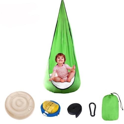 Silla para niños Cama de columpio de tela de paracaídas portátil