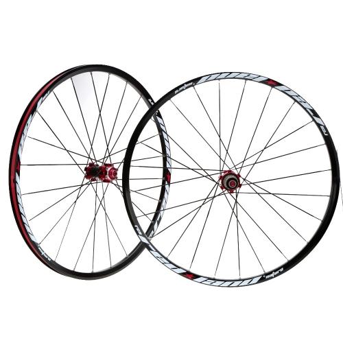 26 cm 24 H disco freno bici ruota Mountain biciclette MTB ruote mozzi bici cerchio anteriore posteriore