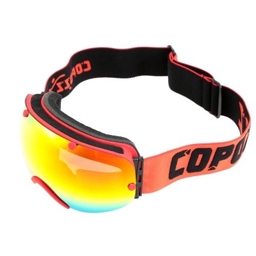 UV protección hombres mujeres deporte al aire libre a prueba de viento gafas Professional Ski Snowboard anti fog gafas