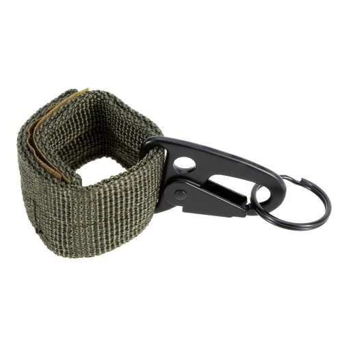 Outdoor Nylon Molle Belt Hanging Hook Buckle Carabiner w/ Key Ring