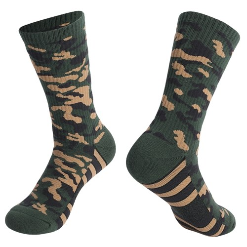 Sports Socks Wicking Anti Slip Thick Breathable Multi-color Socks for Outdoor Running Hiking Basketball