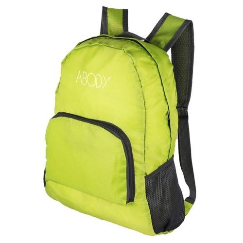 ABODY Leichter Klapprucksack Wasserabweisende Tasche zum Radfahren Camping Klettern Wandern Reisen Schule