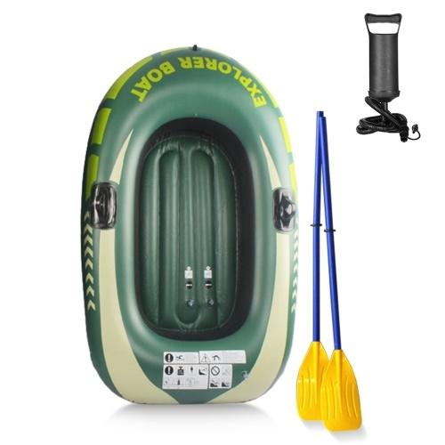 Утолщенная надувная лодка для одного человека, каноэ, рыболовная лодка, портативный каяк из ПВХ с насосом