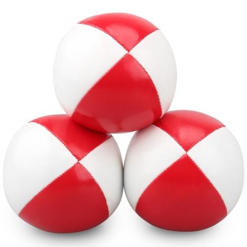 3pcs Juggling Balls 65mm PU Stuffed Balls Juggling Set for Kids Beginners