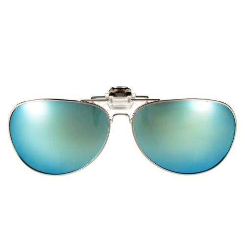 偏光クリップ サングラス レンズ旅行釣り UV400 金属フレームを駆動