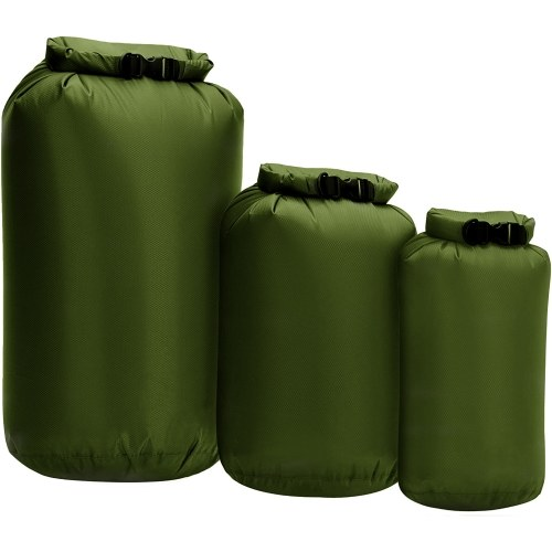 3pcs Waterproof Dry Bag Roll Top Dry Sack For Kayaking Boating Fishing Swimming