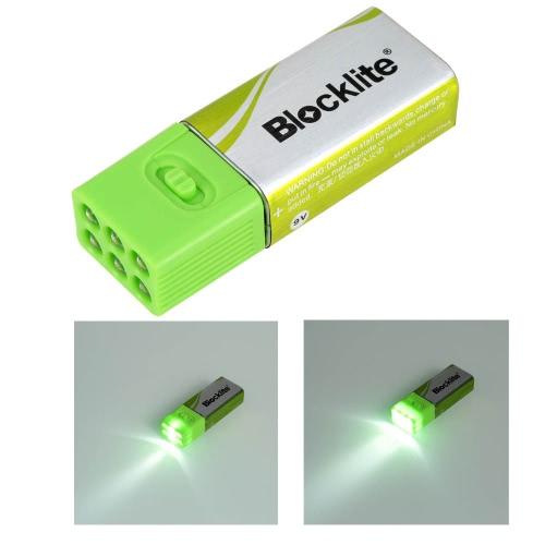 Blocklite 9 ボルト LED 懐中電灯ミニ キャンプ ライト小型超高輝度 10-20 m 照明距離