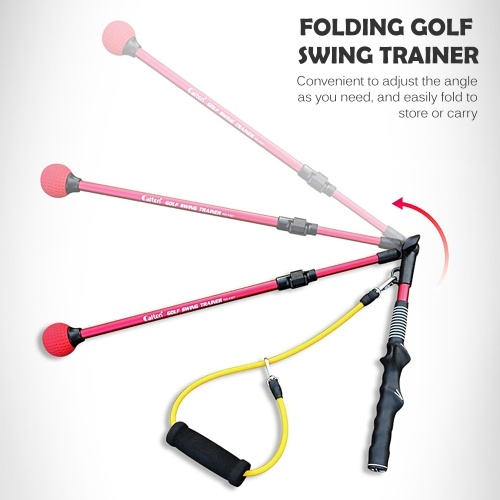 Golf Training Aid with Rubber Strap Men Women Golf Swing Elbow Trainer Correcting Posture Stick for Indoor and Outdoor