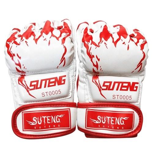 Half Finger Boxing Gloves MMA Training Boxing Mitts Thai Punching Bag Gloves Outdoor Sports Mittens for Sanda Kickboxing Sparring Grapple Martial Arts Muay Thai Taekwondo