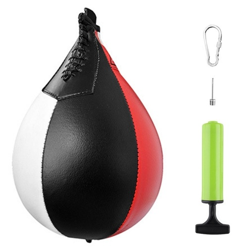 Boxing Speed Ball PU Leather MMA Muay Thai Training Striking Bag Kit Boxing Punch Ball  with Inflator Pump