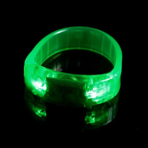 サウンド制御 LED ライトアップ ブレスレット声フラッシュ アクティブ ユニセックス プラスチック スポーツ ランニング手首バンド ウィンカーをサイクリング
