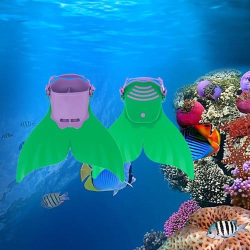 Bambino bambini sirena nuotare Fin immersioni monopinna nuoto piede Flipper
