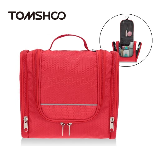 TOMSHOO Portable Travel Kit Veranstalter Necessaire für Frauen Make-up oder Männer rasieren Kit mit hängenden Haken