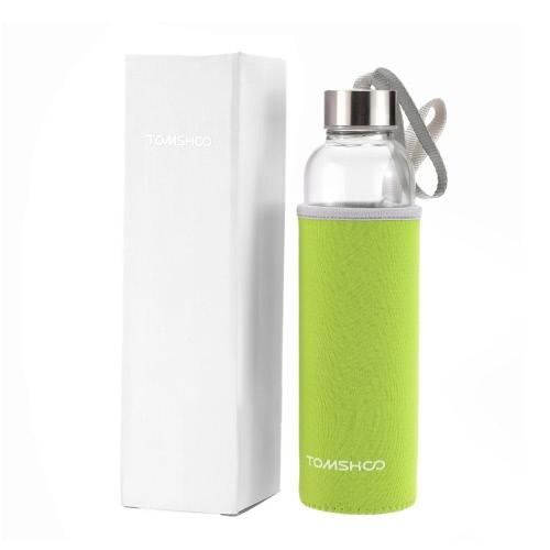 TOMSHOO Открытый спорт стекло бутылку воды с Кофеварка фильтр Infuser защитный мешок рукав 550 мл эко-
