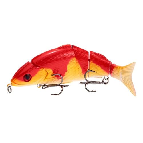 Vita di 12,5 cm 20g come esche rigide Multi snodato segmentato sezione pesca con esche artificiali con ancorette