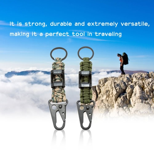 A Cord with Bottle Opener for Emergency Self Help Outdoor Camping Hiking Emergency Tool