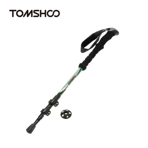TOMSHOO in fibra di carbonio leggero Trekking palo telescopico regolabile escursionismo bastone da passeggio 3 sezione