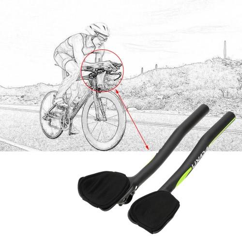 Lixada Kohlefaser MTB Road Bike Fahrrad Aeroaufsatz Rest Lenker Aerolenker 31,8 mm
