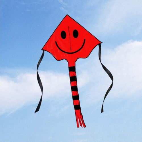 60 * 80см Смайли Kite улыбающееся лицо кайт для детей с ручкой Line Спорт на открытом воздухе