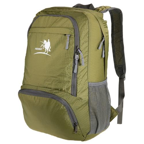 Ultra-ligero libre del caballero 35L poco voluminoso Style Pack Mochila Saco cosas para el viaje de camping uso en el hogar