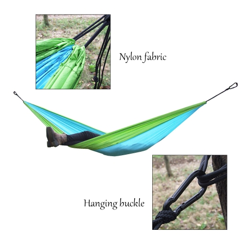 Lixada Portable Durable Compact Nylon Fabric Traveling Camping Hammock for Two Persons
