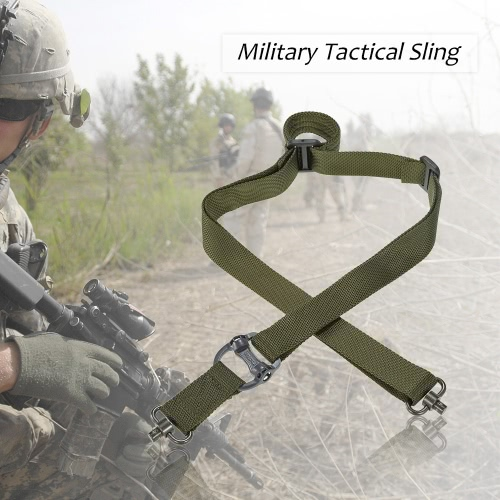 Docooler militärische taktische Sicherheit Zwei Punkte Außengürtel QD Serie Sling verstellbaren Riemen