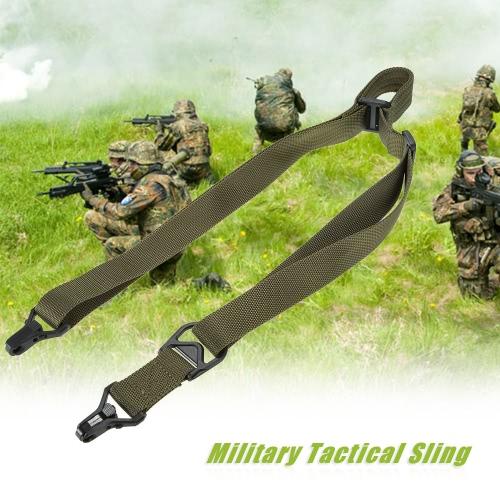 Docooler militar táctico de seguridad Cinturón de dos puntos al aire libre de la carabina honda de la correa ajustable
